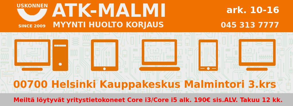 Atk-Malmi.Fi – Käytetyt kannettavat tietokoneet. Halpa käytetty kannettava!